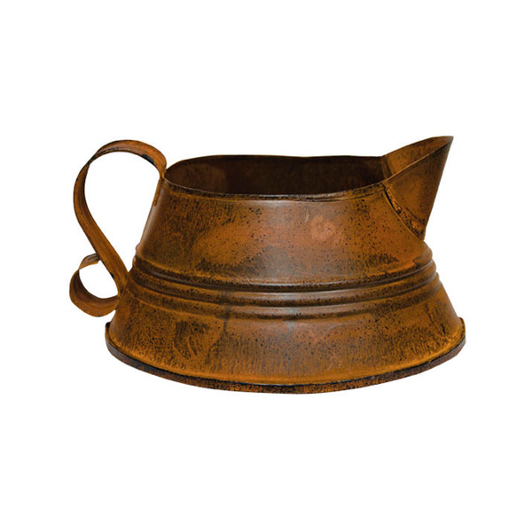 Decorative Rusty Fat Kettle
