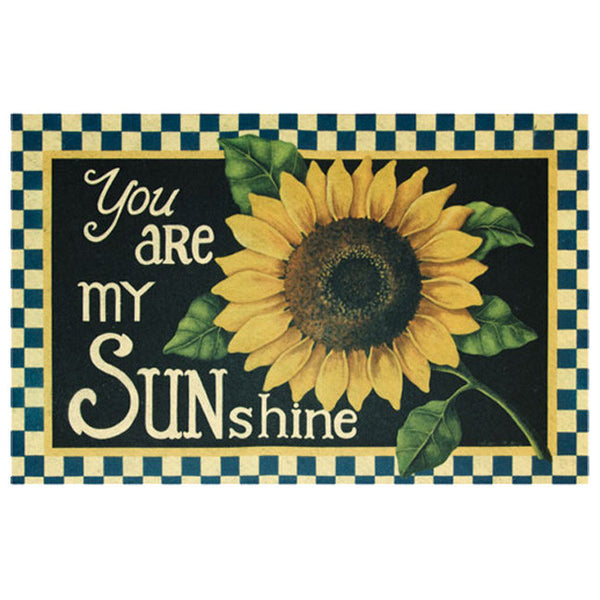 You Are My Sunshine Sunflower Door Mat