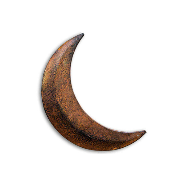 Rusty Tin Crescent Moon 8""