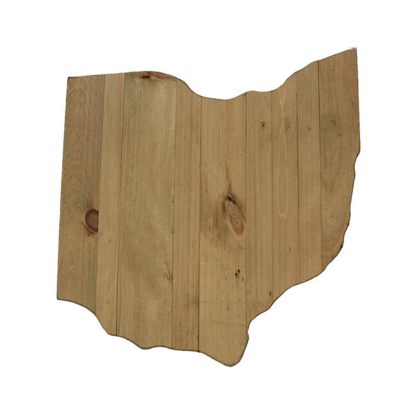 Ohio State Wood Wall Plank Plaque