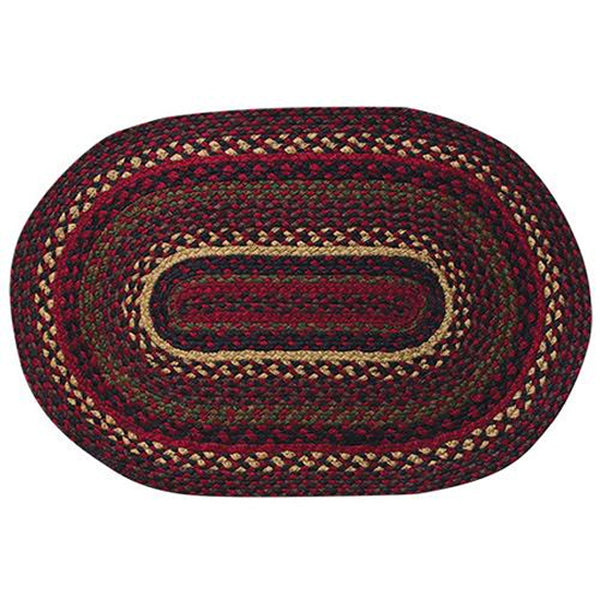 "Bramble Oval Braided Jute Rug 20"" x 30"""