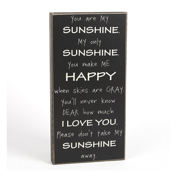 """You Are My Sunshine"" Box Sign Gift"