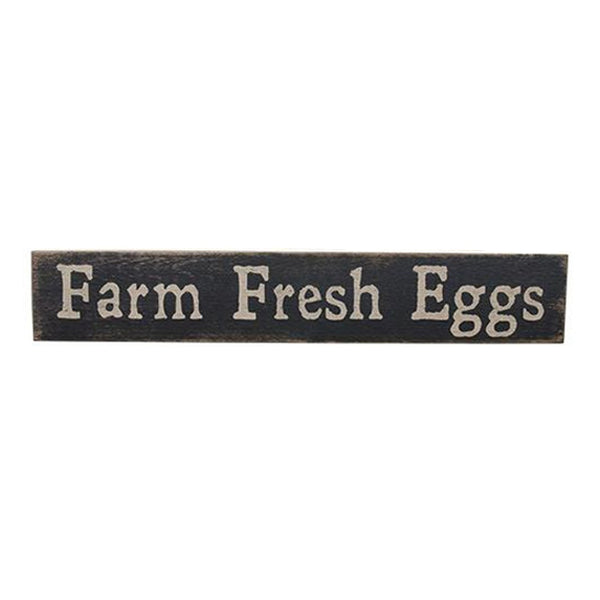 "Distressed Country ""Farm Fresh Eggs"" Painted Wood Sign"
