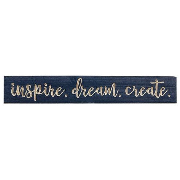 Inspire Dream Create Engraved 3 ft. Navy Sign