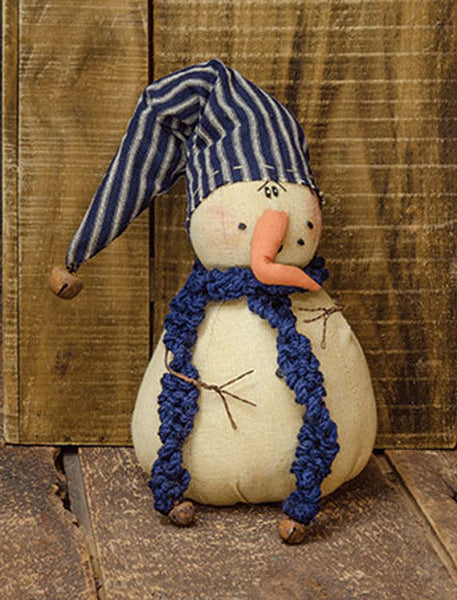 "Stuffed Fabric Snowman ""Snow E. Drift"""