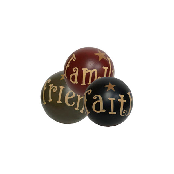 Faith Family Friends with Star Decorative Ball Set