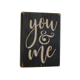 Rustic You & Me Wood Block Shelf Sitter