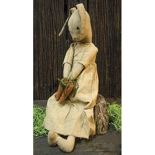 Primitive Honey Bunny with Carrots Spring Easter Doll