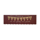 Burgundy Happy Birthday Family & Friends Flags Calendar Sign
