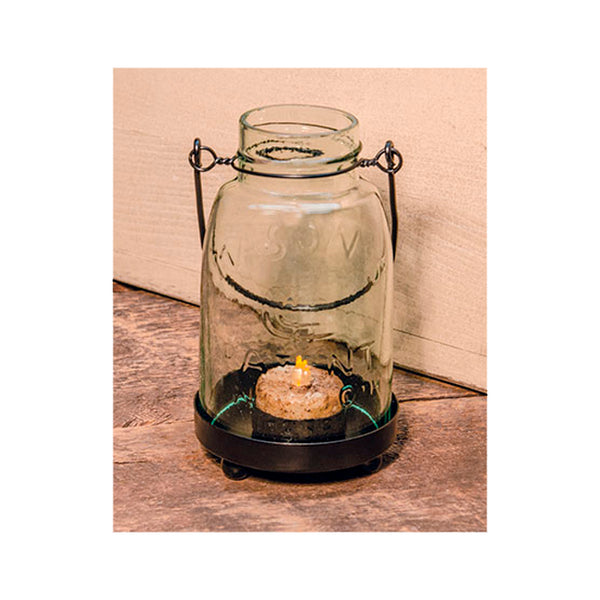 Glass Mason Jar Candle Tealight Holder