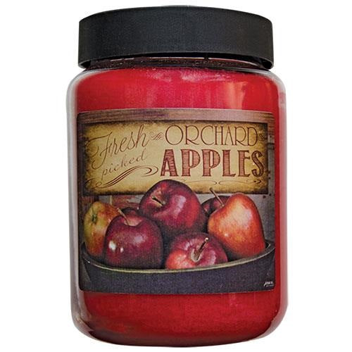 Fresh Picked Orchard Apples Jar Candle, 26oz