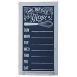 Rustic Vertical Menu Chalkboard Sign with Tray Ledge