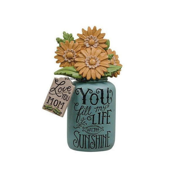 """You Fill My Life with Sunshine"" Flower Jar Mom Gift"