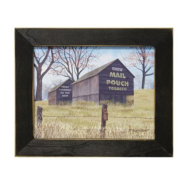 "Billy Jacobs ""Treat Yourself"" Mail Pouch Tobacco Barn Framed Canvas Print"