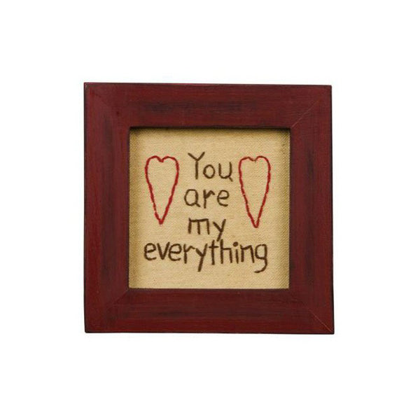 """You are my Everything"" Heart Framed Stitchery Gift"
