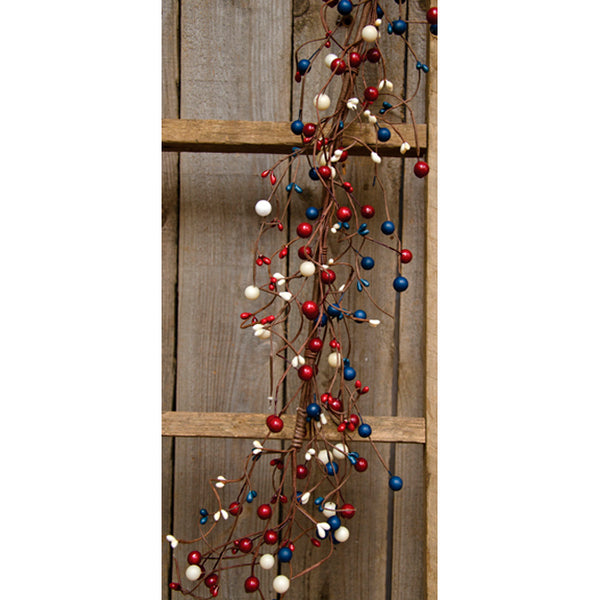 4 ft Americana Pip Berry Garland