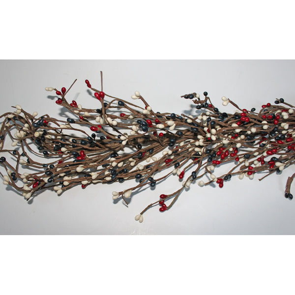 4.5 ft Red, White, & Blue Pip Berry Garland