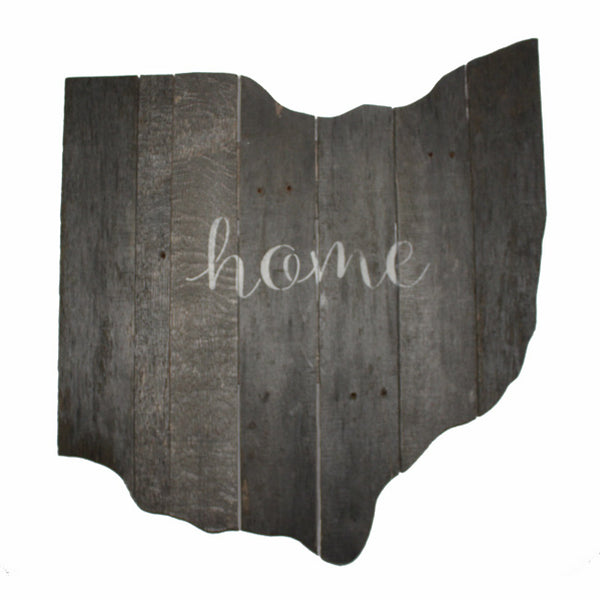 Rustic Ohio State Script Home Wood Pallet Large Wall Plaque