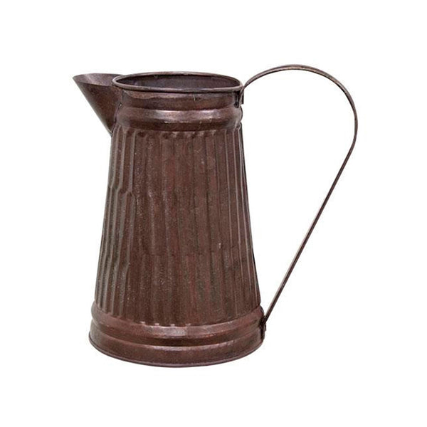 Decorative Distressed Copper Galvanized Pitcher