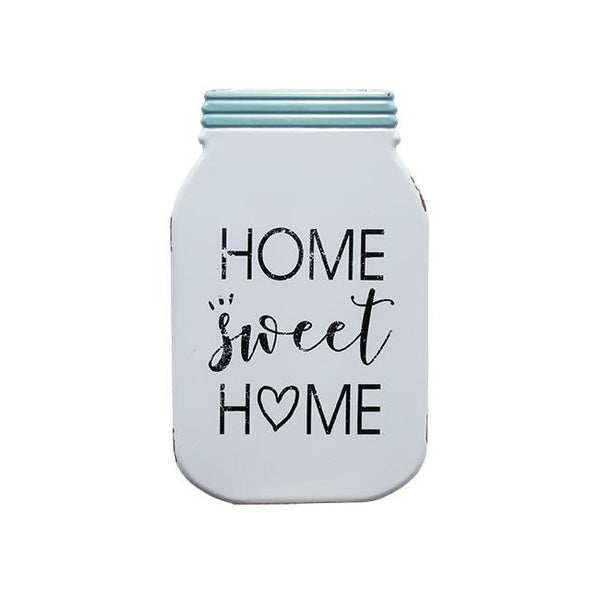 Home Sweet Home Mason Jar Metal Plaque