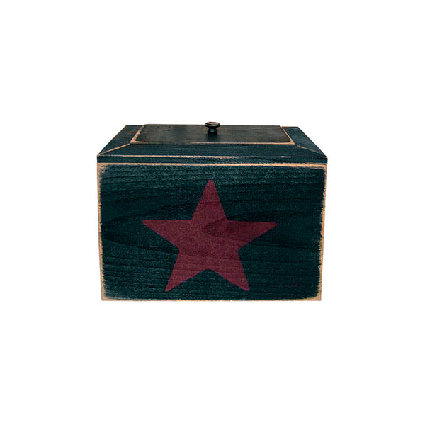 Primitive Rustic Recipe Box with Star