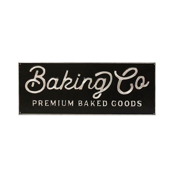 """Baking Co Premium Baked Goods"" Retro Metal Laundry Plaque"
