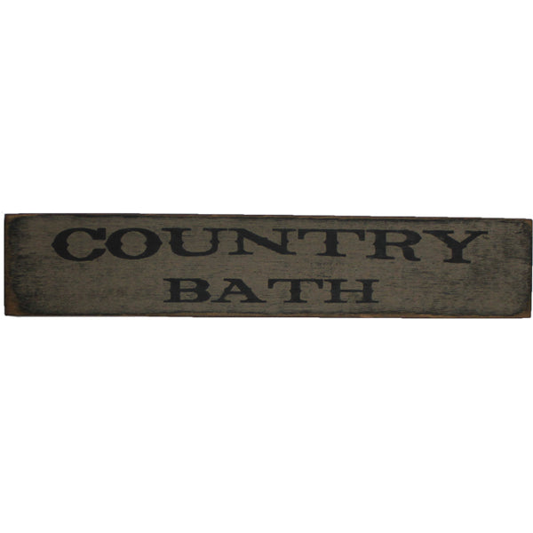 "18"" COUNTRY BATH Distressed Wood Sign"
