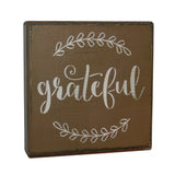 Grateful Ivy Wood Shelf Sitter