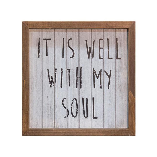 It Is Well With My Soul Framed Faith Sign