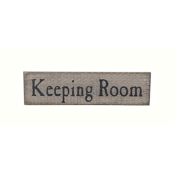 "Distressed ""Keeping Room"" Painted Wood Vintage-Look Sign"