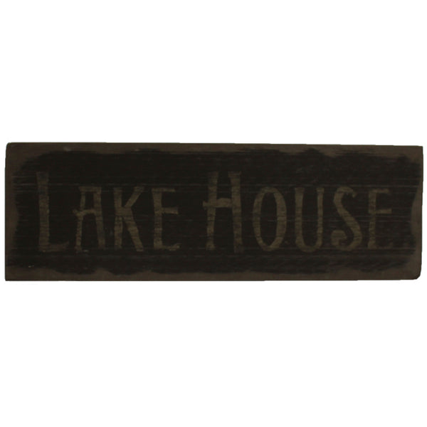 LAKE HOUSE Distressed Wood Sign