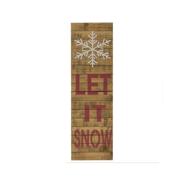 Let it Snow Snowflake Lath Large Wood Sign