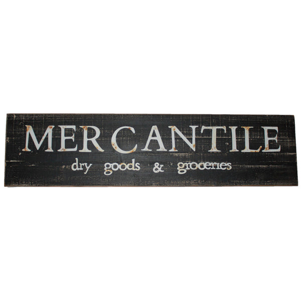 Rustic Mercantile Dry Goods & Groceries Wood and Metal Sign