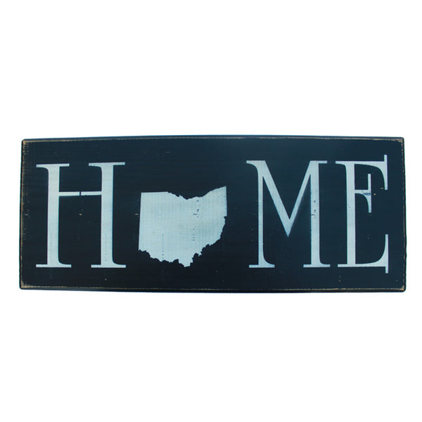 Ohio State Home Wooden Shelf Sitter Sign