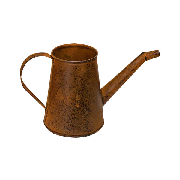 "Decorative Rust/Black 4"" Metal Watering Can"