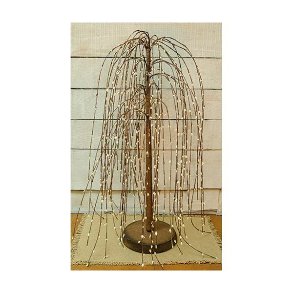 24-inch Cream Pips Weeping Willow Tree