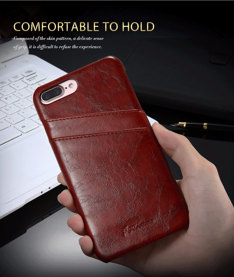 Business Card Holder Leather iPhone Case - Vital Cases