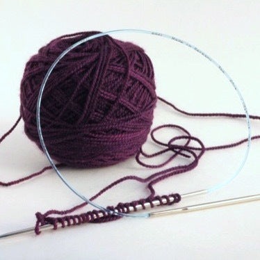 yarn ball and needles