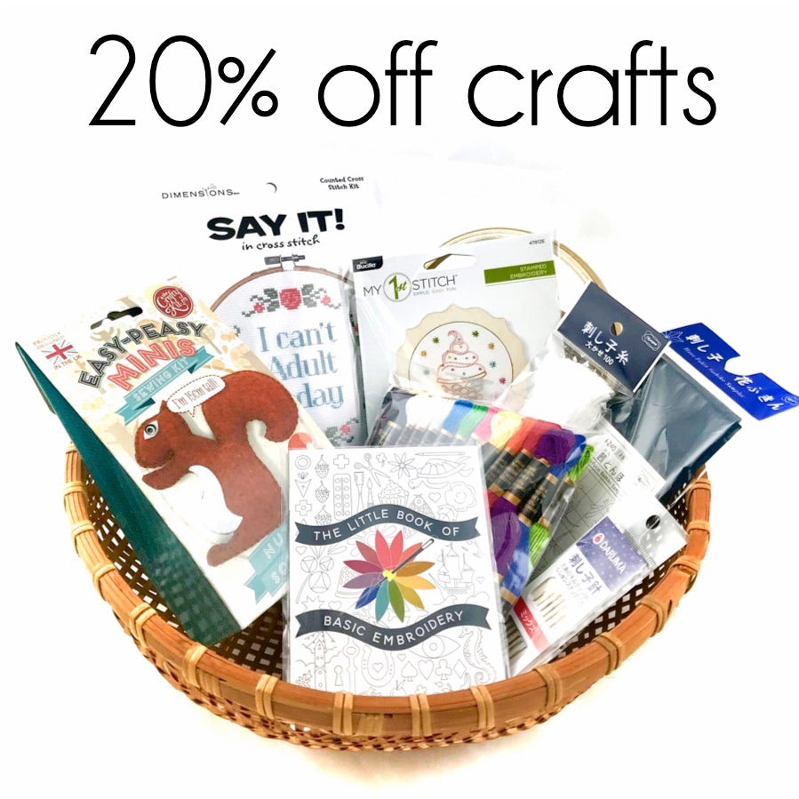 20% off crafts