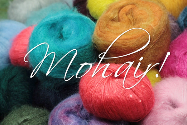 pile of several kinds of mohair yarn