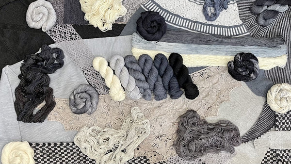 neutrals skeins of yarn and projects