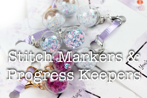 stitch markers and progress keepers
