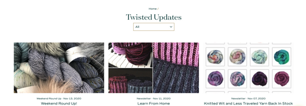 twisted blog page