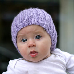 purple baby hat