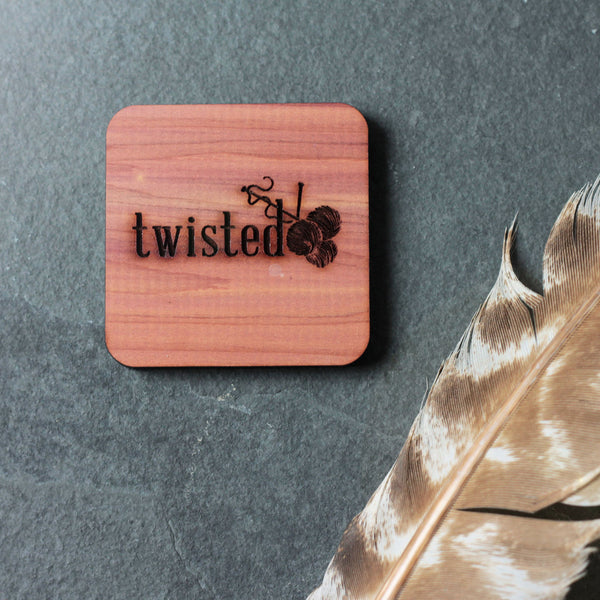 twisted logo cedar block