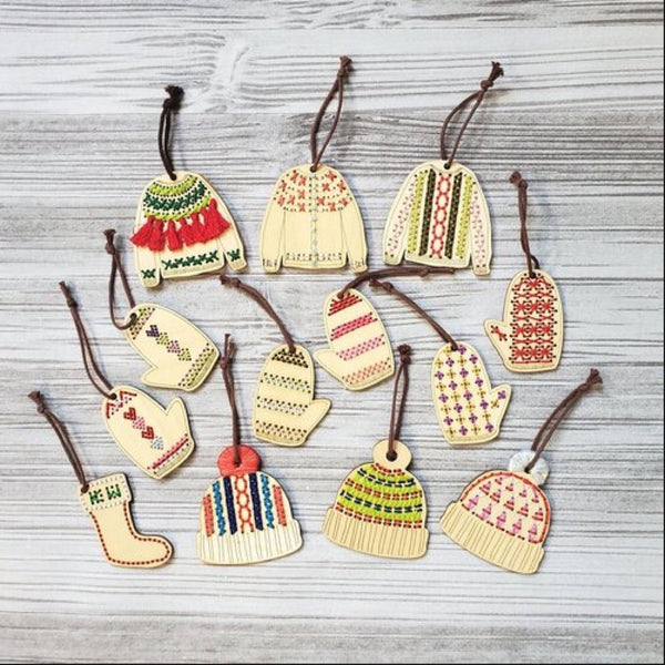 katrinkles ornaments stitched