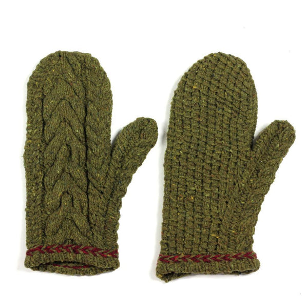 flint cabled mitts