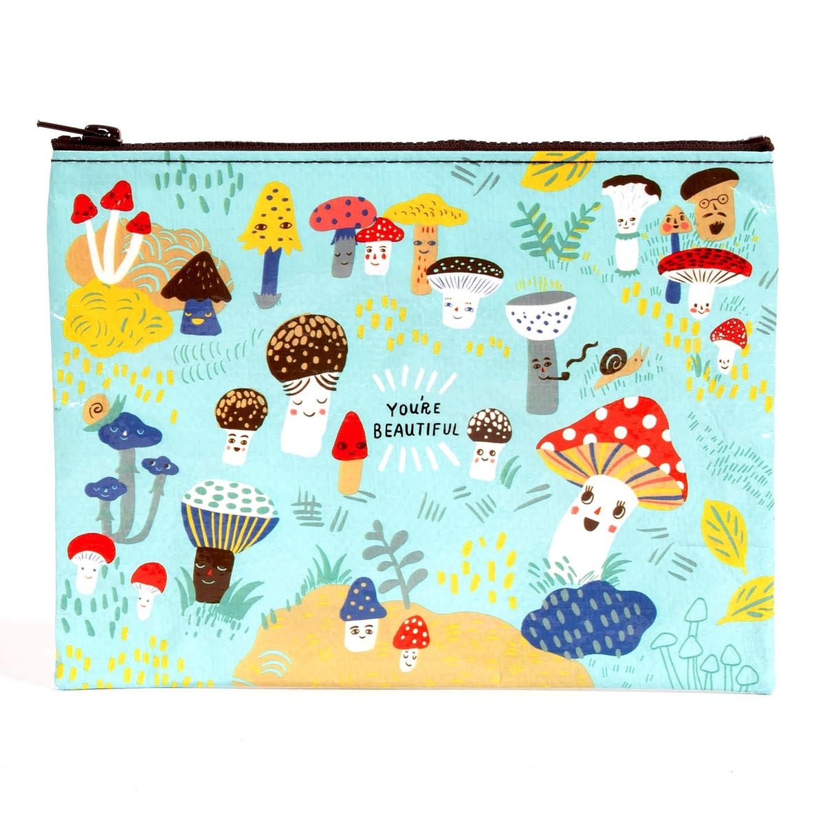 Cute Lil Mushrooms | Zipper Pouch from Blue Q | Twisted