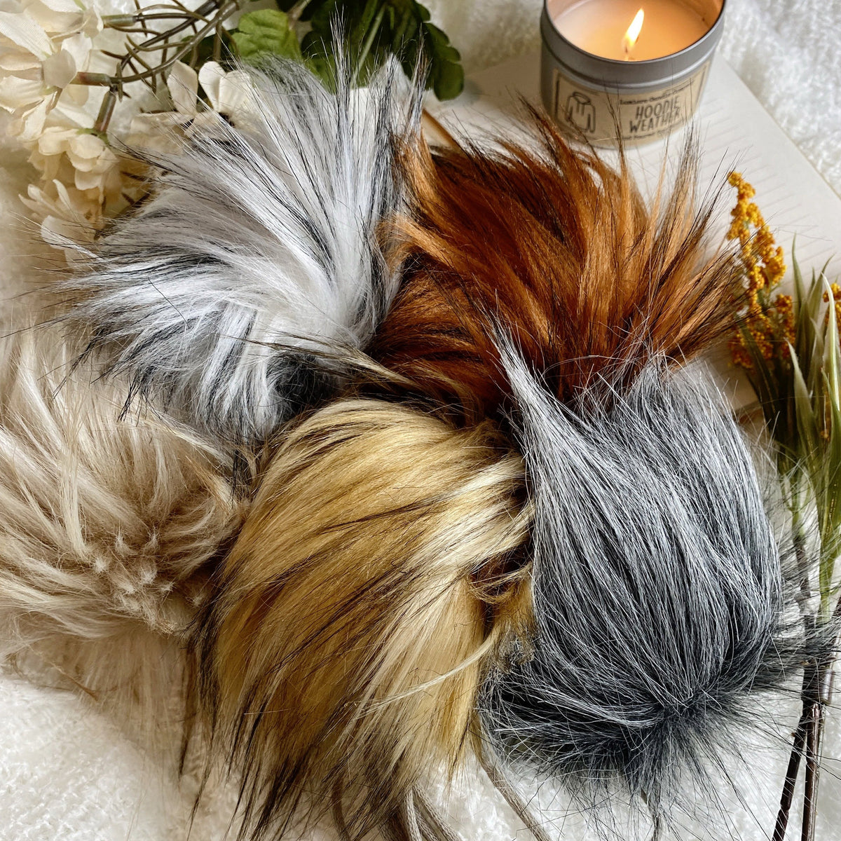 Faux Fur Pom Poms from Capella Luna | Twisted
