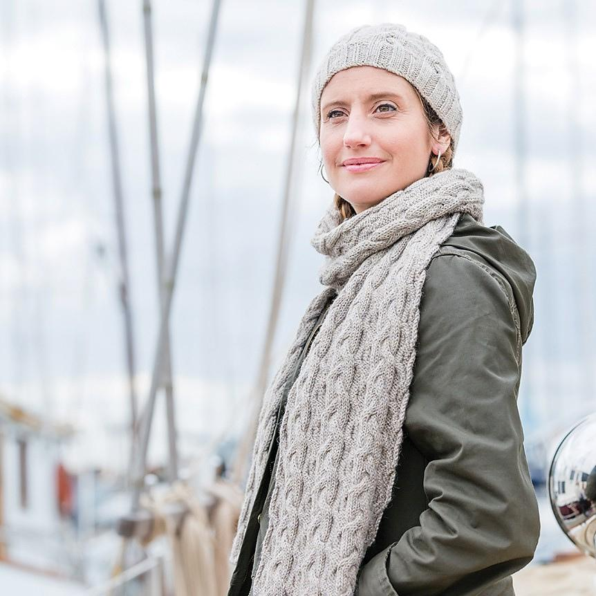 Fair Winds Beanie & Scarf pattern by Churchmouse | Twisted